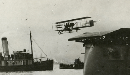 An early shipboard take-off