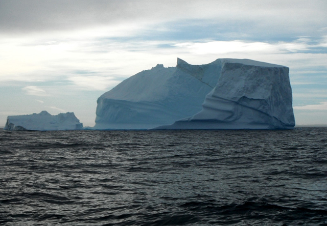 Icebergs in Baffin Bay, off of Greenland's southwestern coast.