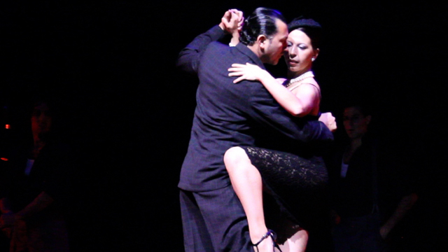 Mickela dancing with Jesus Velasquez in Tango Porteno.