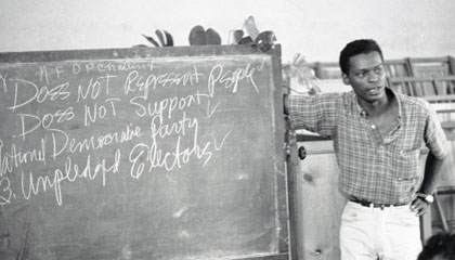 SNCC Field Secretary Sandy Leigh.