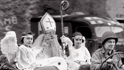 Corporal Richard Brookins as Saint Nick.