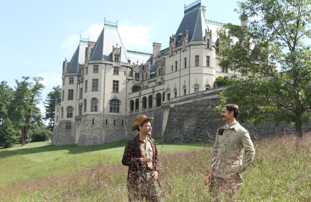 A re-enactment outside of the famed Biltmore house.