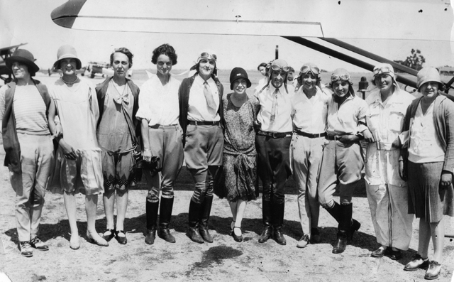 Racers from the 1929 first women's air derby.