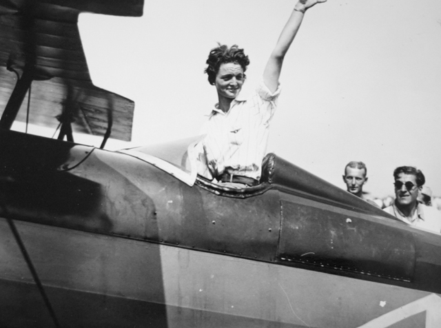 Louise Thaden after winning the 1929 women's air derby.