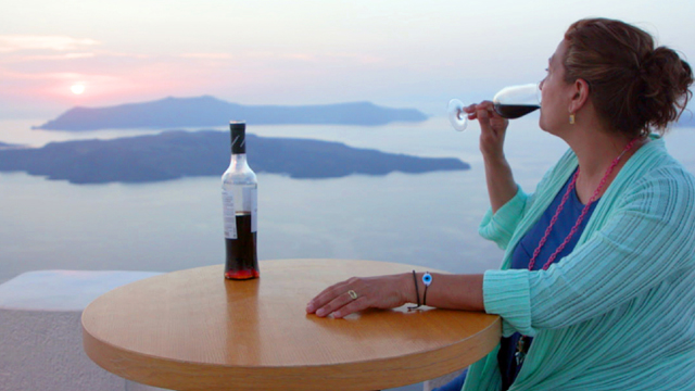 Diane celebrates the intensely flavored food and unique wines of one of Greece's most breathtaking islands, Santorini.