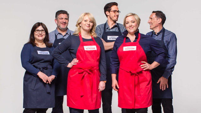 The main cast of America's Test Kitchen