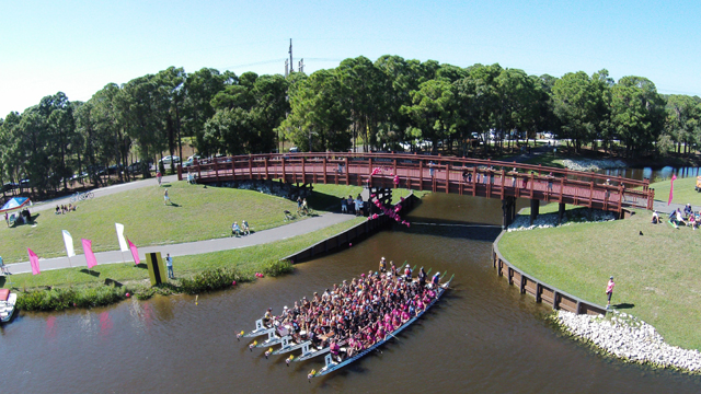 The 2014 Dragon Boat Festival was held for the first time in Sarasota, Florida,