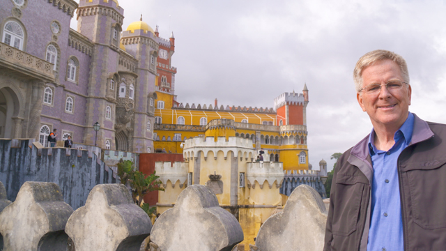 Rick explores the ruins of the Moorish Castle in Sintra, Portugal.