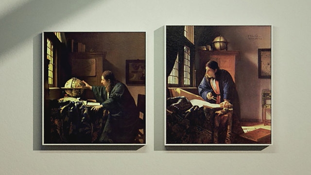 Johannes Vermeer's The Astronomer and The Geographer