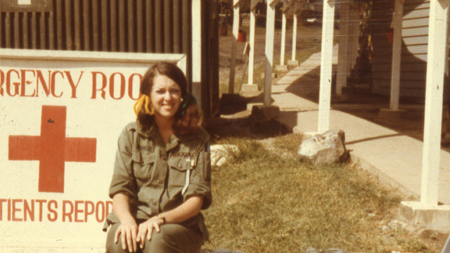 Former Army nurse Mary Beth Crowley who was stationed in An Khe, Vietnam during the Vietnam War.