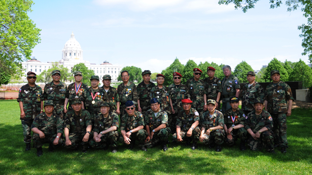A gathering of Hmong and Lao former soldiers at Minnesota's capital.