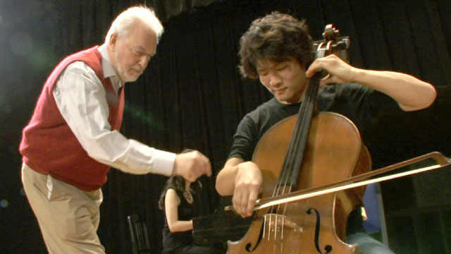 Paul Katz with student Han Bin.