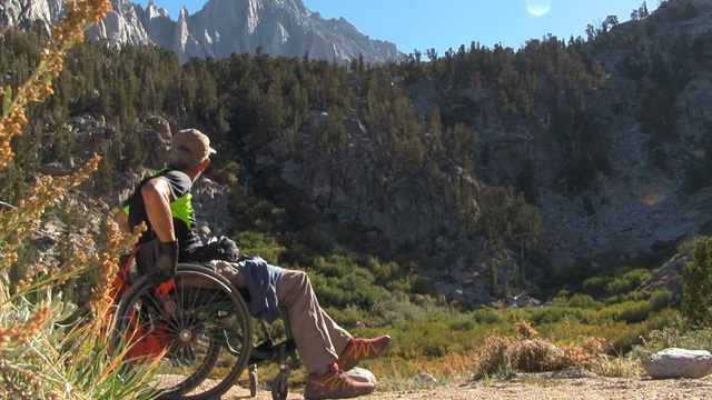 Bob Coomber, an intrepid adventurer, sets out to becone the first wheelchair hiker to cross Kearsarge Pass in the Sierra Nevada of California.