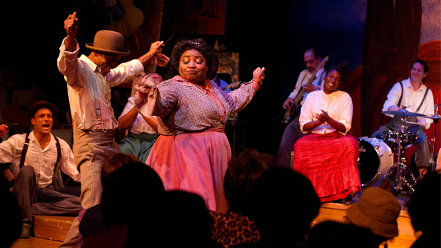 The Playhouse production of Ain't Nothin but the Blues was one of many productions carefully curated by the Crabtrees that boasted all Black casts.