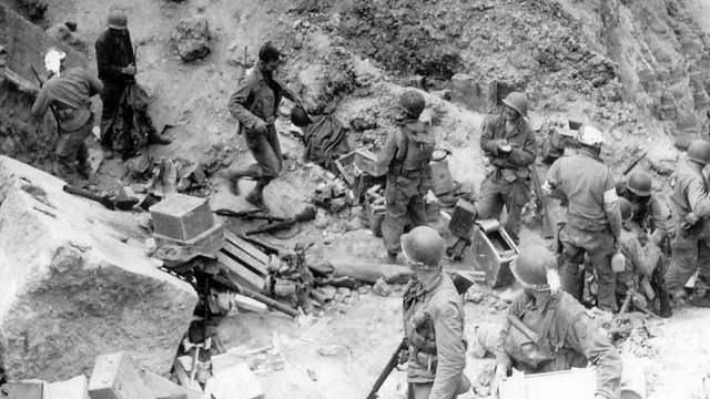 The U.S. Army's 2nd Ranger battalion on Pointe-du-Hoc