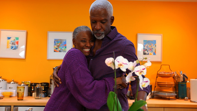 B. Smith, a former celebrity chef who was diagnosed with younger onset Alzheimer's at the age of 62 and her husband Dan Gasby.