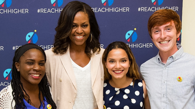 Former First Lady Michelle Obama with the