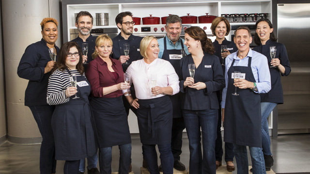 Bridget Lancaster, Julia Collin Davison and their team of test cooks