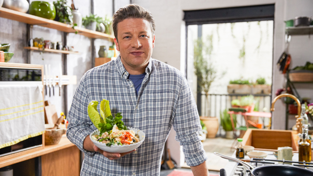 Host Jamie Oliver provides all new recipes that are so delicious and easy to make, you won't even miss the meat