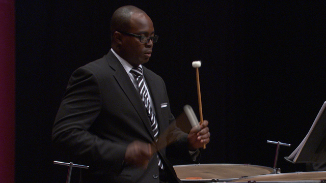 Timpani player Jauvon Gilliam